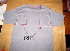 Cut Out T-Shirt Ideas | No Sew, Tee-Shirt Halter #3, DIY