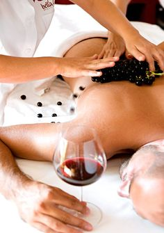 La spa bellaUve at Le Tre Vaselle.  We focus on wine and grape oriented treatments which reverse the body's signs of aging and stress