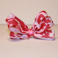 Camo Pink Hair Bow from Vinyl Expressions for $1.50