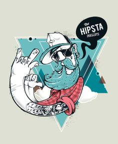 Hipster Vectors by Sergey Kandakov, via Behance
