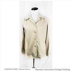 Vintage Beige Blazer  GIVENCHY SPORT  by MaterialCollections Vintage Beige Blazer • GIVENCHY SPORT • Neiman Marcus • 70s cream jacket • sporty • preppy • high fashion • casual • retro • mod • hipste