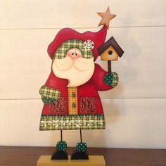 Christmas Decorations, Christmas Ornaments, Holiday Decor, Santa Paintings, Christmas Time, Xmas, Rena, Pintura Country, Tole Painting