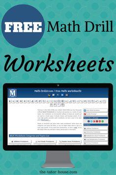 Free Math Drill Worksheets