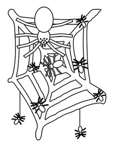 Spiders Web Halloween Fine Motor Coloring Activity. Bulletin Board Idea, Fun Stuff, Autumn or Spring Spider, Web. Printable. 5 pages.