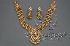 Gold Necklace Set | Tibarumal Jewels | Jewellers of Gems, Pearls, Diamonds, and Precious Stones