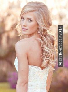 Art Wedding Hair hair-and-beauty Long Hairstyles, Pretty Hairstyles, Hairstyle Ideas, Wedding Hairstyles, Romantic Hairstyles, Loose Hairstyle, Bridesmaid Hairstyles, Perfect Hairstyle, Style Hairstyle