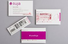 Suja pull-tab business cards | Bex Brands | paperspecs.com