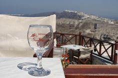 Greece Santorini Wine Glass by Traveling Storyteller, via Flickr