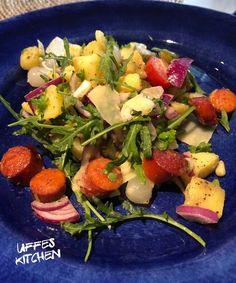 Kall korvsallad » Sevendays Chorizo, Fruit Salad, Potato Salad, Curry, Ethnic Recipes, Kitchen, Food, Fruit Salads, Curries