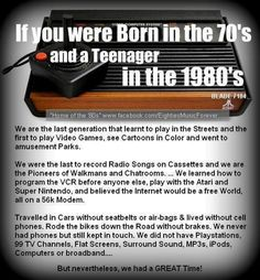 Born in the 70s, teen in the early 90s and still remember all of these things.