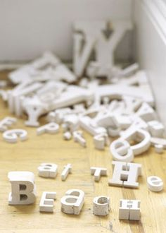 I love typography...you'll find old vintage metal and porcelain letters throughout my house.
