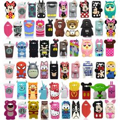 Cartoon Silicone Phone Case Cover For Samsung Galaxy Edge Htc 626 Iphone 5c, Samsung J3 Phone Cases, Iphone 7 Plus, Apple Iphone, Iphone Cases, Cute Cases, Cute Phone Cases, Galaxy J5, Samsung Galaxy