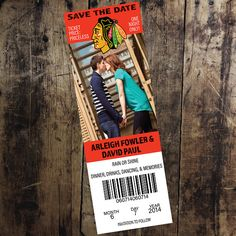 Chicago Blackhawks Ticket Save the Date