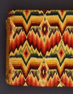 Pocketbook Elizabeth Parker (United States, Pennsylvania, Westchester) Colonial America, Pennsylvania, 1763 Costumes; Accessories Wool on linen; embroidery 4 x 6 in. (10.16 x 15.24 cm)