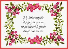 Verjaardag Kaart Vir My Seun - Yahoo Image Search Results Words Of Sympathy, Condolence Messages, Sympathy Quotes, Condolences, Identifying Succulents, Bible Quotes, Bible Verses, Qoutes, Afrikaanse Quotes