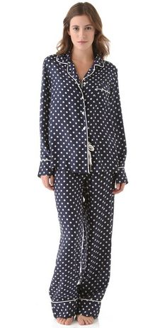 Polka dot pajamas. These would have been so much more styling to be caught in public in.