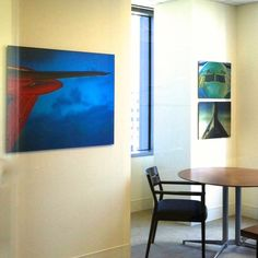For this executive office at Air Lease Corporation, we printed airplane imagery on aluminum. The metallic quality of the subject was perfect for the substrate. #airplane #airplanes #airplanephotography #corporateart #workplace #artsy #photography #aluminumprints #colorful #welltraveled #interiors #phototheday #interiordesire