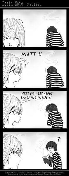 Death Note: Habits. by SilentReaper.deviantart.com on @deviantART