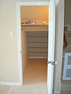 storage under the stairs closets - Google Search