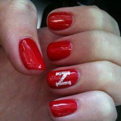 Husker gel manicure #UNL