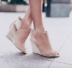 @happilyeverallen killing the shoe game in our kristen cavallari peep toe wedges  shopriffraff.com #riffrafflove