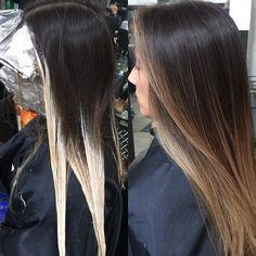 Brunette balayage #balayage #hairpainting #hairbykimjette #brunette #brunettebalayage #balayageombre #fallhaircolor