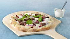 MatPrat - Eltefri pizza med reinsdyrskav, granateple og spinat