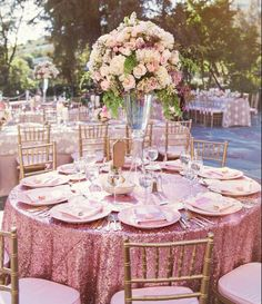 66 super Ideas for wedding table ideas pink sequin tablecloth Perfect Wedding, Dream Wedding, Wedding Day, Trendy Wedding, Wedding Anniversary, Luxury Wedding, Summer Wedding, Diy Wedding, Dream Party