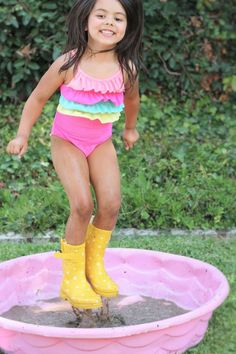 """My daughter loves Peppa Pig, so I planned a Peppa Pig Birthday party. Her favorite episode is called """"Golden Boots"""" so I used that episode for my planning. 2 Birthday, Birthday Ideas, Pig Party, Project Nursery, Peppa Pig, Daughter Love, Celebs, Rain Boots, Projects"""