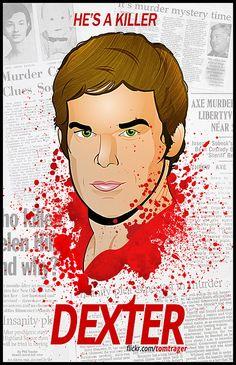 """He's a killer. Debra Morgan, Dexter Morgan, Dexter Season 4, The Godfather Game, Michael C Hall, Seasons Posters, Greys Anatomy Memes, Crazy Fans, Billie Holiday"