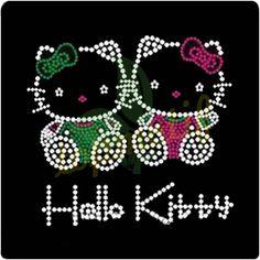 Hello Kitty Hot Fix Transfer Rhinestone Motif