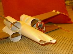 Obvious Winner - ow - DIY Toilet Paper Tube X-Wing Fighter from star wars. Apologies for the crude site, no instructions but a great close-up photo.