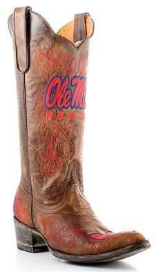 Womens Gameday Boots Ole Miss