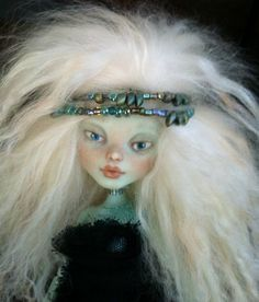 """Arwen"" Monster High Custom Doll Outfit Ooak Repaint Gorgeous Tibetan Mohair 