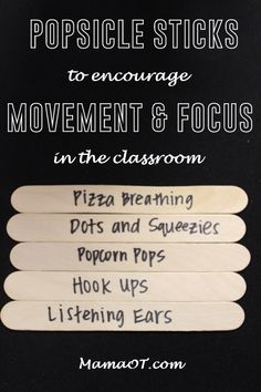 5 movement-based strategies teachers can use with students in the classroom to help them focus.