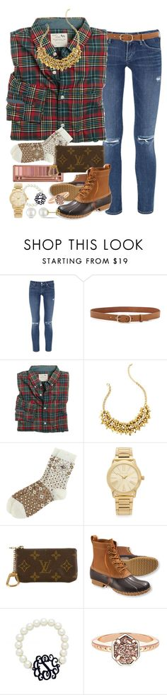 """fall set?¿"" by thefashionbyem ❤ liked on Polyvore featuring Citizens of Humanity, Urban Decay, rag & bone, J.Crew, Lilly Pulitzer, Michael Kors, Louis Vuitton, L.L.Bean, Kendra Scott and Miadora"