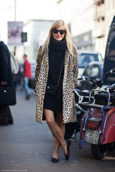 Leopard print coat - a Bombshell style must-have.