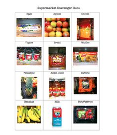 Supermarket Scavenger Hunt  -  Pinned by @PediaStaff – Please Visit http://ht.ly/63sNt for all our pediatric therapy pins