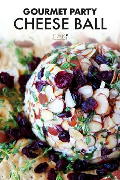 Make this Easy Cheese Ball Recipe with Goat Cheese for your holiday party appetizer this year! It's an easy holiday recipe that feeds a crowd and wins them over all at the same time!