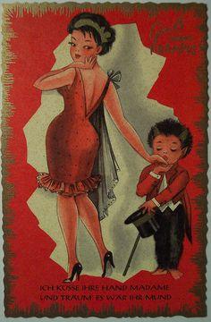 Vintage Christmas Krampus Postcard by riptheskull, via Flickr