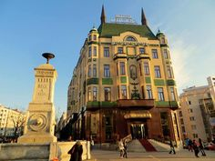 Hotel Moskva in Belgrade. Read More about the Hotel and the most famous cake in Serbia: http://bellegrade.com/2016/03/26/moskva-snit-by-hotel-moskva/