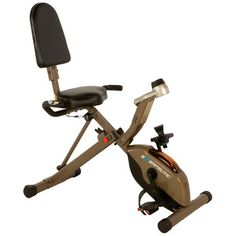Exerpeutic 525XLR Folding Maximum Capacity Gold Recumbent Exercise Bike | Walmart Canada