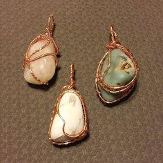 Pendants in copper before antique process.