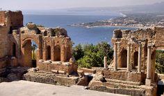 The Greek theatre, Taormina (Sicily) Italy