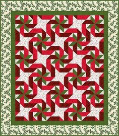 Gift Wrapped quilt pattern-  in four sizes- by Quilt Design NW