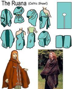Ruana Celtic shawl More (Diy Clothes) Diy Clothing, Sewing Clothes, Clothing Patterns, Celtic Clothing, Create Clothing, Diy Vetement, Diy Fashion, Fashion Design, Fashion Goth