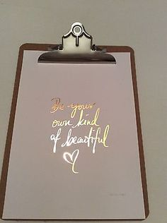 Rose Gold Foil Print, Be Your Own Kind Of Beautiful, Quote