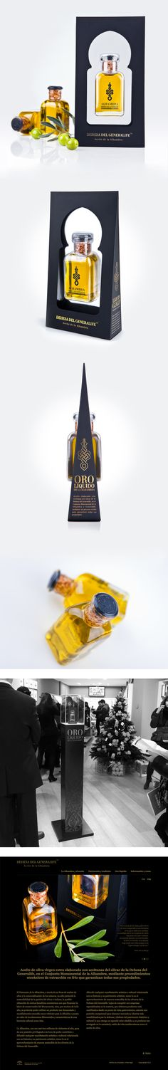 olive oil packaging from Alhambra, Eideo