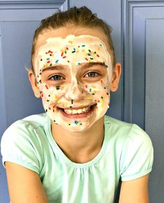 Whether you're throwing a spa birthday party or just want some fun relaxation time with your kids, this DIY edible face mask is sure to make any little girl (or little boy, if we're being honest) super excited for some pampering. Inspired by the Sunny Day Kids Spa Party, Spa Birthday Parties, Pamper Party, Slumber Parties, Birthday Celebrations, 10th Birthday, Birthday Fun, Homemade Face Masks, Diy Face Mask