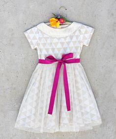 Modern Kids fashion - White Triangles Nellie Dress ##zulily #ad *sweet